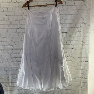 VIntage Gap Boho White handkerchief Maxi Skirt 2